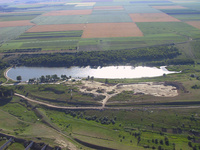 Aerial View of Galati - small pond on the north side