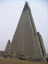 The Ryugyong Hotel in North Korea
