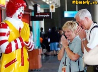 McDonalds Clown prays