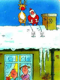 Santa and Reindeer peeing