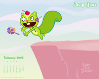 Happy Tree Friends, february 2008 calendar