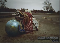 Honda Creative Ad Art - Motorbikes Use Original Parts 02