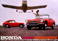 Honda S800 Cabrio and S800 Coupe Ad