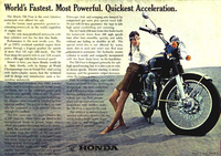 Honda CB750 Ad - Indian Girl