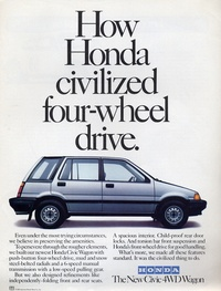 Honda Civic 4wd Wagon - how Honda civilized four-wheel drive