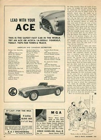 1958 - AC Ace Aceca car Lead With Your Ace