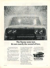 1971 - Toyota Water Test Magazine - Car Ad