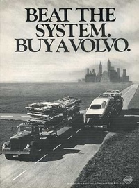 1971 - Volvo Beat the System Magazine - Car Ad