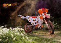 Honda Motorcycle - respect your motorbike's identity clown