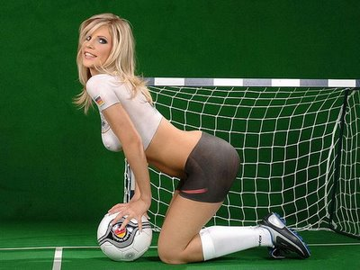 Painted World Cup Football Soccer Girl 12