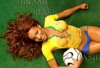 Painted World Cup Football Soccer Girl 11