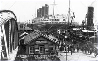 Lusitania at the Landing Stage, Liverpool