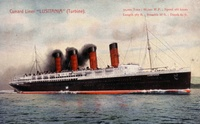 Postcard of Lusitania