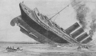 Lusitania Going Down