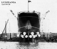 The Lusitania was the first quadruple screw ocean liner