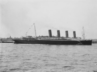 Lusitania arriving in New York 2
