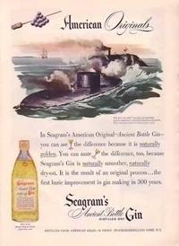 1948 - Seagram's Gin - Monitor & Merrimac - American Originals