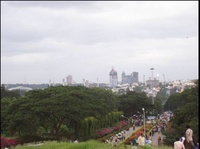 View of Bangalore from lalbagh