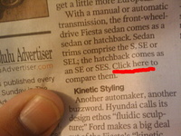 """Click Here"" in the Newspaper"