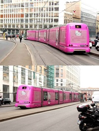 Hello Kitty Tram in Rome