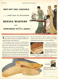 1930 - Chiquita - hot of the griddle - banana waffles