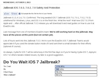 Jailbreak iOS 7.0.3, 7.0.2, 7.0 on the way