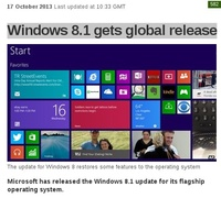 Windows 8.1 gets global release