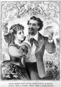 1873 - Who does not love wine, wife and song, will be a fool for his lifelong!