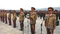 Overdecorated North Korean Officers