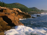 Gorham Mountain, Beehive, Acadia National Park, Maine, USA