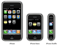 iPhone versions - normal, nano and shuffle