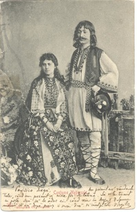 Romanian folk costumes, 1902