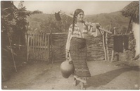 Rural Life - Lady in the Yard