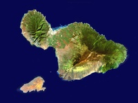 Landsat Image of Maui, Hawaii