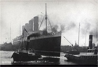 Lusitania Doking in Liverpool