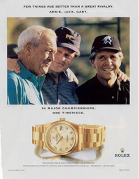 Arnold Palmer, Jack Nicklaus and Gary Player - Rolex