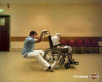 Harley Davidson - Stop Dreaming behind the wheelchair