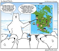 Polar Bears are planning to eat the humans!