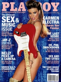 2003 - Playboy magazine cover of April