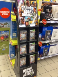 Grand Theft Auto Five in the stores