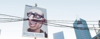 Nose Hair using Urban Cables - City Commercial Billboard