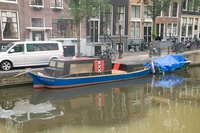 There's an XXX boat in Amsterdam!