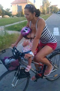 Breastfeeding while biking