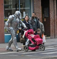 Iron Man with baby
