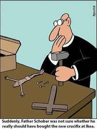 Make your own crucifix - by Ikea