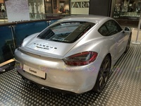 2015 Porsche Cayman GTS - rear angle view