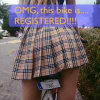 OMG, this bike is....   REGISTERED!!!!