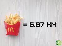 2016 - Fit Talerz - French Fries equal 5.97km