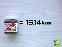 2016 - Fit Talerz - Nutella equals 16.14km