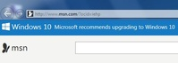 Windows 10 recommends upgrading to Windows 10